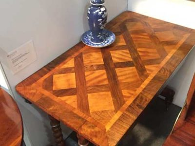 Mahogany and Cherry Crossbanded Occasional Table