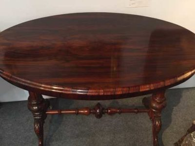Rosewood Oval Loo Table
