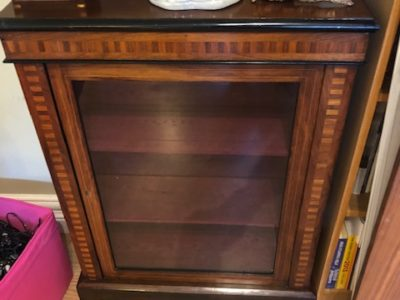 Victorian Walnut and Mahogany Pier Cabinet